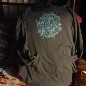 Life is good pull over hoodie p/s/ch nice bargain